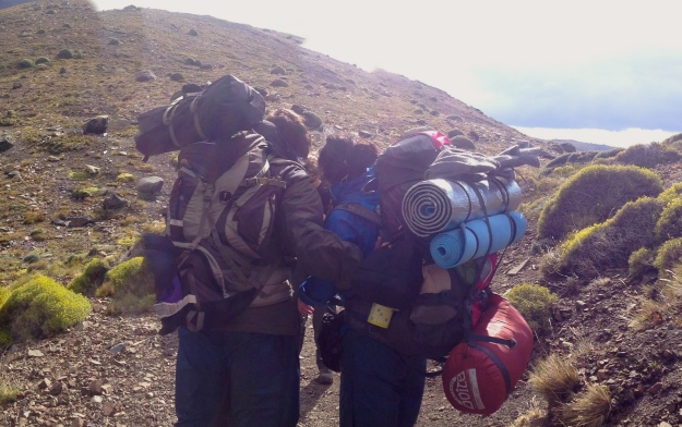 Hehe, some hikers we passed with crazy backpacks